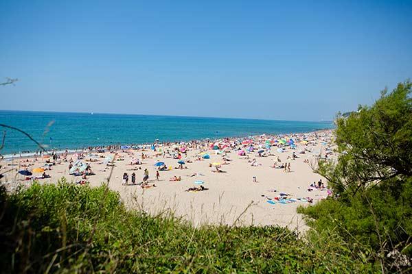 strand in Bidart