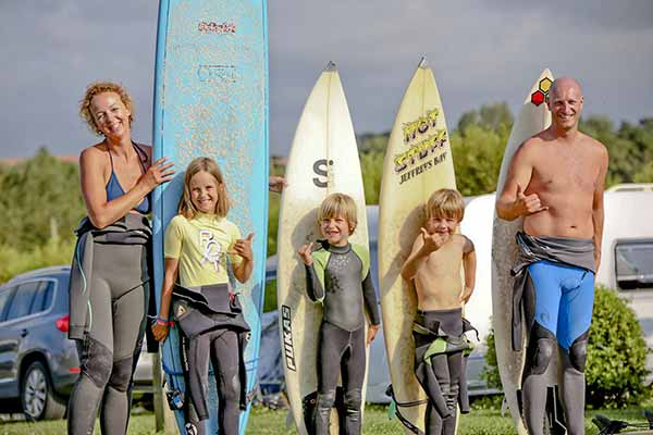surfing and campsite in the Basque Country
