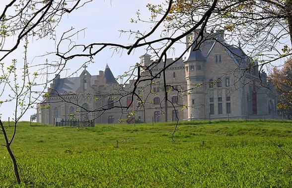 le chateau d'Habbadia à Hendaye